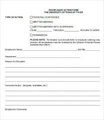 Employee Discipline Form Template Free