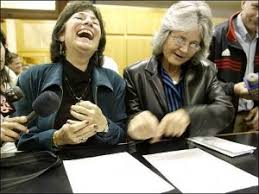 gay marriage timeline gay marriage procon org marcia kadish and tanya mccloskey the first legally married same sex couple in the