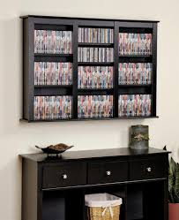 Wall Media Cabinet Amazoncom Black Triple Wall Mounted Storage Kitchen Dining