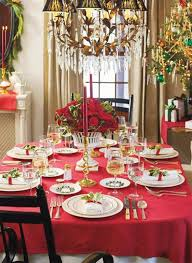 Christmas Dining Table Decorations Dining Room Christmas Dinner Table  Decoration Ideas With