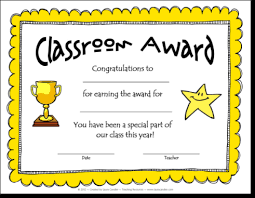 Classroom Awards Make Kids Feel Special
