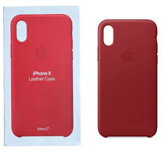 genuine apple leather case for apple iphone xs iphone x product red mqte2zm a