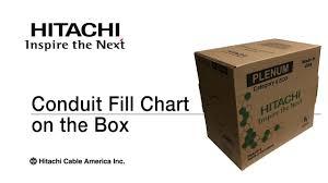 Conduit Fill Chart On The Box Hitachi Cable America