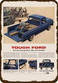 1964 FORD F100 STYLESIDE PICKUP TRUCK Vintage Look Replica Metal ...