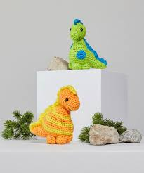 stellan and stanley crochet dinosaur