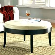 round leather coffee table round leather coffee table cream leather storage ottoman coffee table large leather