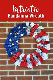 patriotic wreaths for front doorMake a Beautiful American Flag Wreath  Gym Craft Laundry