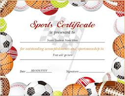 Sports Certificate Templates For Ms Word | Professional Certificate ...
