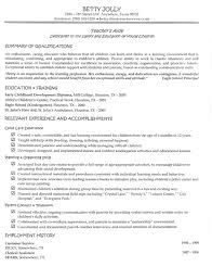 Resume Examples Early Childhood Education Resume Ixiplay Free