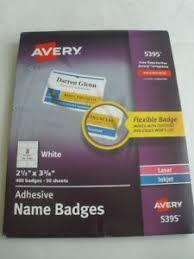 Avery 5395 Name Badges Avery 5395 85395 Self Adhesive Removable Name Badges Laser Printer