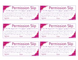 Permission Slip Template Template Permission Slip Template Permission Slip Template 8