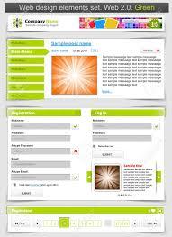 Web 2 0 Design Template Web Design Template Set 2 0