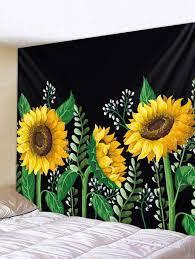 sunflower wall art flower mural