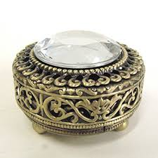 Decorative Ring Boxes Amazon Mini Vintage Round Jewelry Decorative Trinket Box Ring 78
