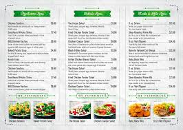 Cafe Menu Template Trifold A4 City Cafe Menu Template Vol 1