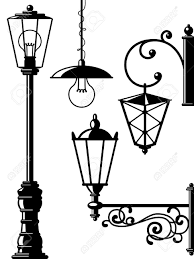 Drawing Street Light Stock Vector Street Lamp Lantern Drawing Lanterns