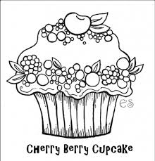 Cartoon Cupcake Coloring Pages Colouring In Funny Draw Very Cute For