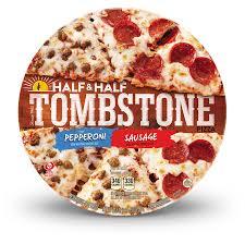 tombstone half half pepperoni and sausage pizza