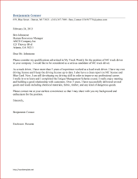 Awesome Application Letter Fr A Driver Type Of Resume