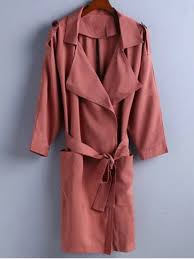 hot trench coat brick red l