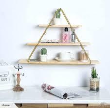 large triangle shelf wooden geometric maple hanging bookcase trade me large triangle shelf