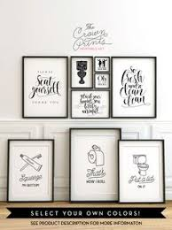 vintage bathroom wall decor. Printable Bathroom Wall Art From The Crown Prints On Etsy - Lots Of Funny Quotes And Vintage Decor V
