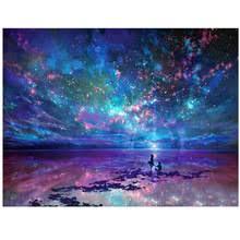 <b>Diamond Вышивка 5D</b> пейзаж красочные ночное небо <b>картина</b> ...