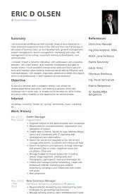 Event Manager Resume Samples Event Manager Resume Skills Cv Magazine