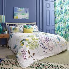 set botanical duvet pillowcase