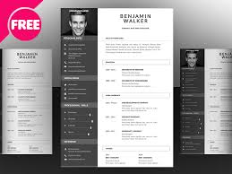 Clean Resume Template Free Psd By Mohammed Shahid Dribbble