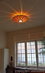 Lotus Lamp Als Plafond Lamp In Rozen Hout In Living Wood Lamps In