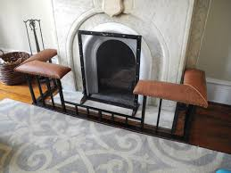 custom made fireplace screens and club fender benches