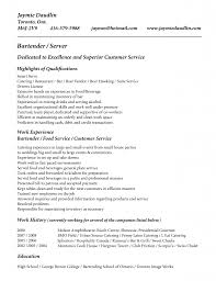 Gallery Of Bar Resume Examples Barback Image Resume Sample And