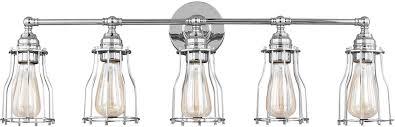 feiss vs24005ch calgary modern chrome 5 light bathroom lighting sconce loading zoom