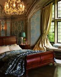 romantic bedroom with sleigh bed