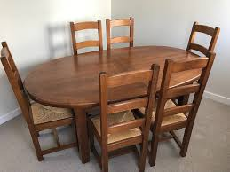 oak dining table. Extending Oval Oak Dining Table And Six Chairs 190-270cm R