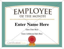 Printable Employee Of The Month Certificates Employee Of The Month Certificate Business Award Employee Recognition Business Employee Of The Month Boss Gift Coworker Gift