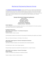 Fresher Mechanical Engineer Resume Format It Cover Letter