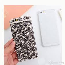 diy phone case seoul diy lace rose flower sticker for iphone 7 case full protective