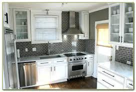 grey subway tile s beveled with grout light tiles kitchen backsplash