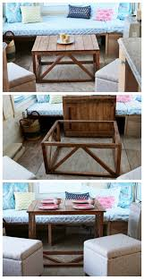 Ana White | Coffee Table Converts To Dining Table From Wild Rose Tiny House    DIY