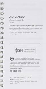At A Glance Weekly Planner Refill For 70 008 2015 3 25 X 6 25 Inch Page Size 70 904 10