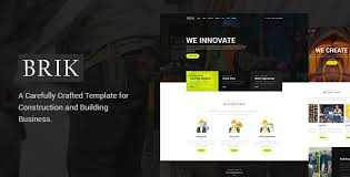 Website Templates Wordpress Impressive Brik Construction Building PSD Template WebsiteTemplates