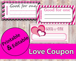 Blank Coupon Templates Love Coupon Love Coupon Book Printable Coupons Valentine 14