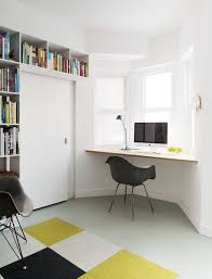small space home office ideas. Space Saving Home Office Ideas With Black Chair And Sleek Wooden Mounted Desk Small
