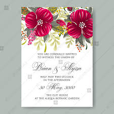 Hibiscus Aloha Hawaii Wedding Invitation Card Template Marriage