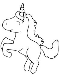 Disegno Di Unicorno Carino Cartone Animato Da Colorare Disegni Da