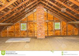 Vintage Attic Old Farm House Wood Beam Ceiling Built Traditional Way