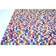 bright colored rugs bright colored rugs felt ball rug rectangular in bright colors handmade pertaining to