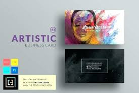 art business card templates artist template free exles for artists plete makeup cards sle graphic design busine